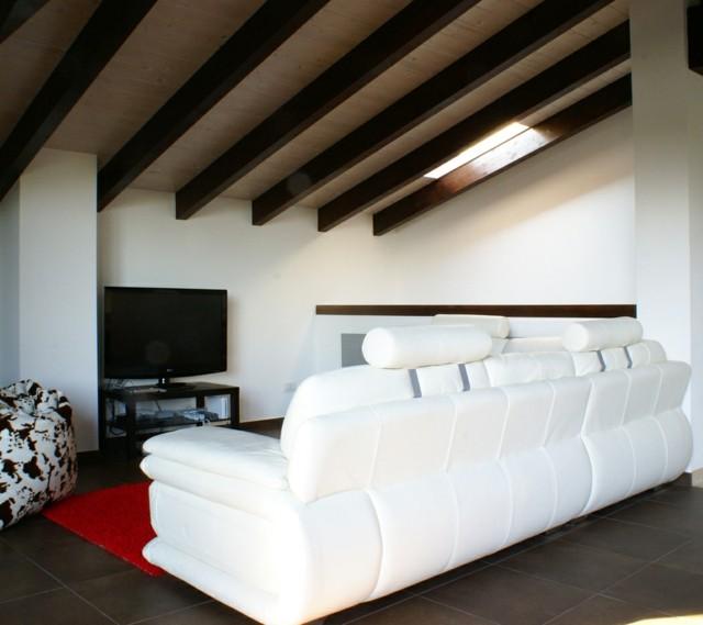 salon lignes droites idées simples conception de plafond