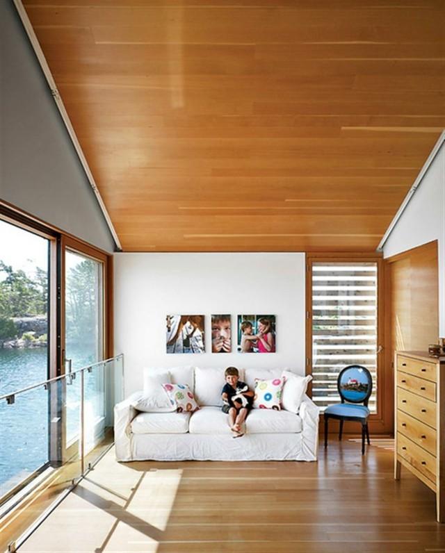 lattes de plancher égales au plafond design en bois