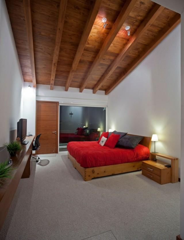 plafond en bois haut design joli marron