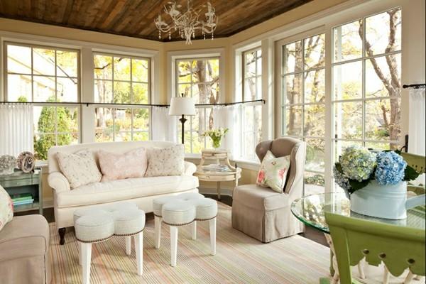 meubles de terrasse couverts beige
