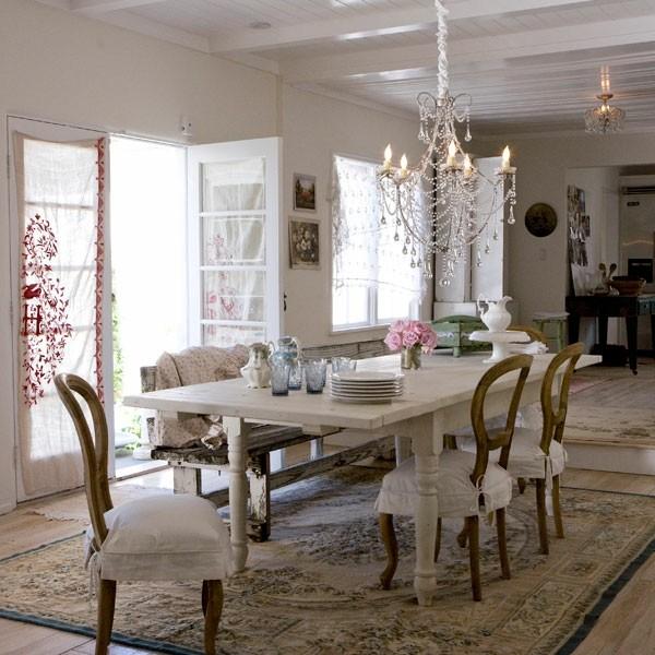 table de décoration shabby chic salon