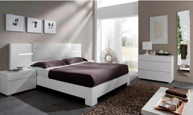 décoration de chambre à coucher accessoires marron lampes