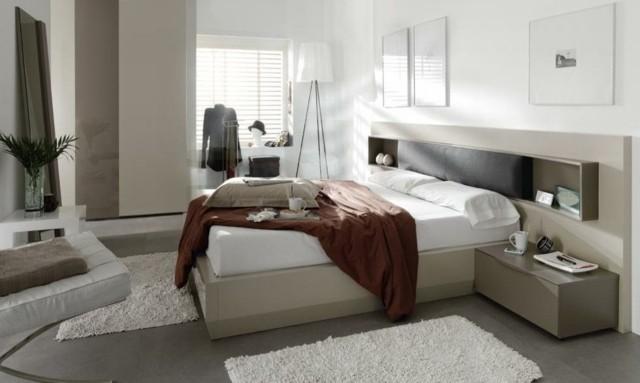 décoration de chambre à coucher plantes éclairage plantes