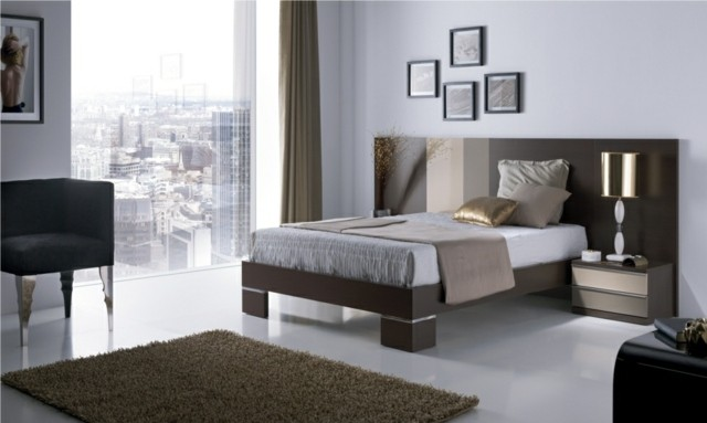 décoration de chambre à coucher fenêtres meubles lampes
