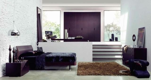 mobilier naturel de décoration de chambre à coucher moderne