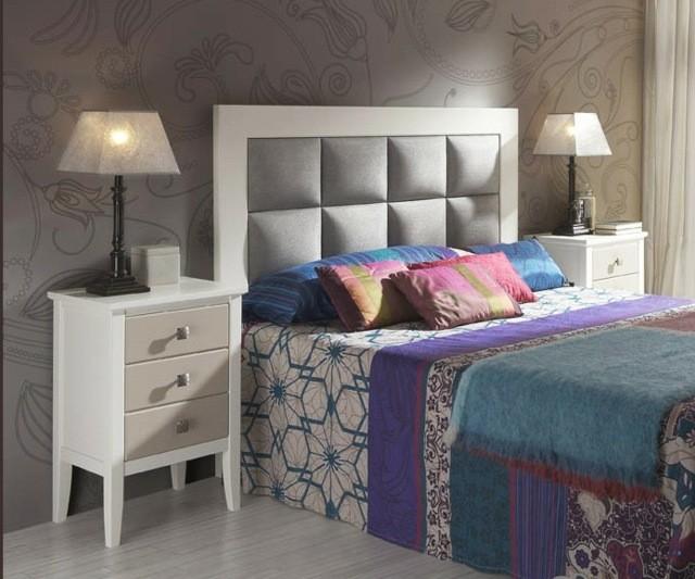 design de chambre coussins lampes en bois