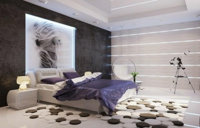 lampes de coussins de conception de chambre moderne