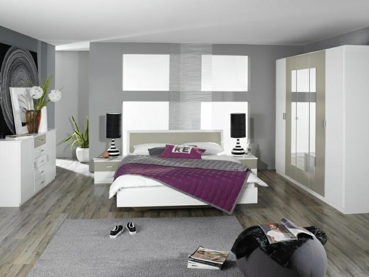 pouf gris pour chambre à coucher moderne