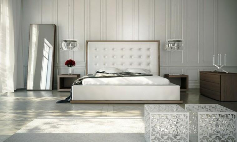 miroir de lumière blanche de chambre à coucher