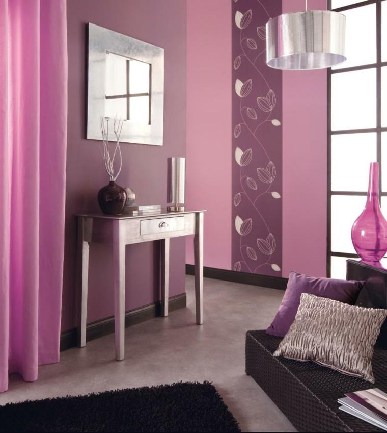 décoration de la chambre tapis violet rose