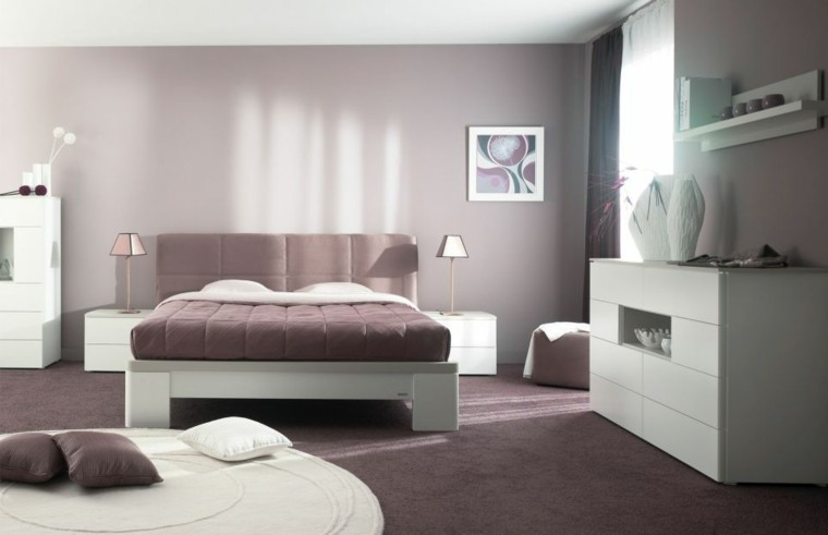 chambre moderne design minimaliste coussins