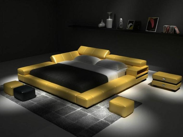 chambre moderne jaune peau noire