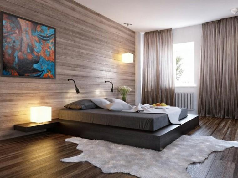 décoration de chambre lit plateforme rectangulaire
