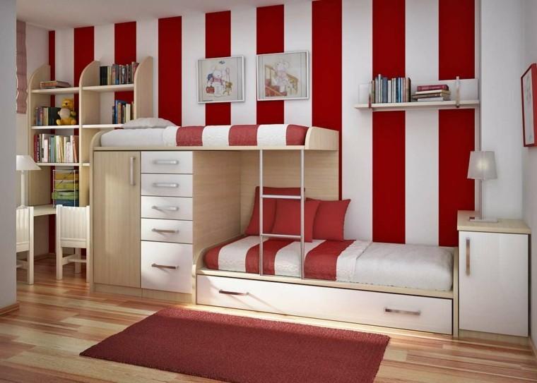 bandes blanches rouges de chambre d'enfants