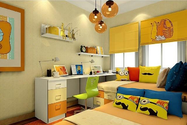 design d'intérieur avec des coussins de chambre aux couleurs chaudes