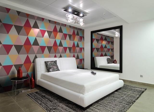 mosaïque de salon de mur de papier peint