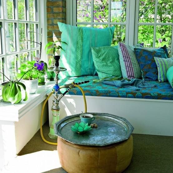 coussins de style tabouret de baie vitrée boho deco