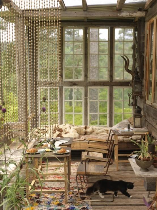 fenêtres de patio design d'éclairage en bois