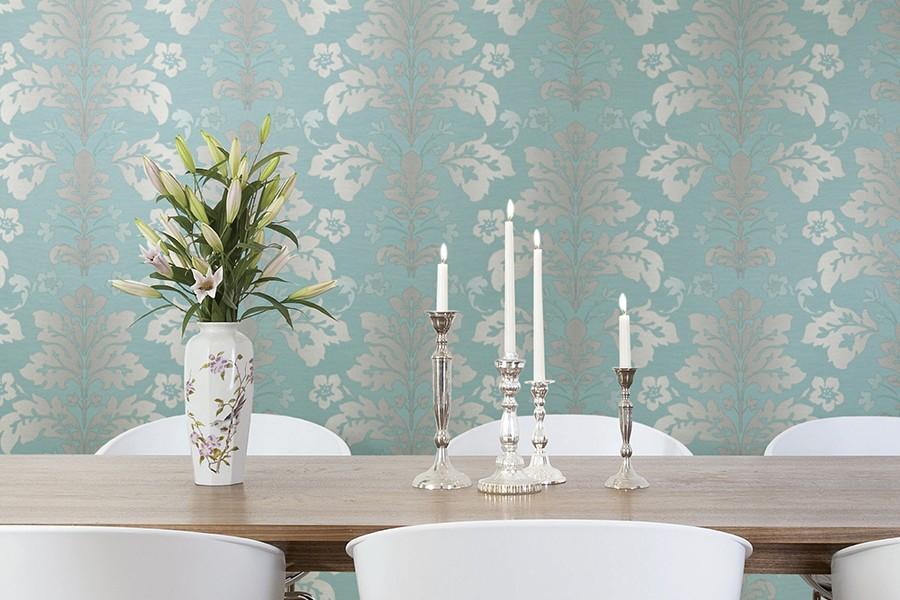 belle conception de papier peint salle à manger idées de couleurs claires