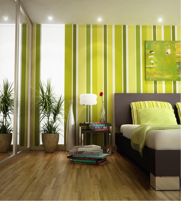 combinaison de couleurs rayures gamme verte belles idées