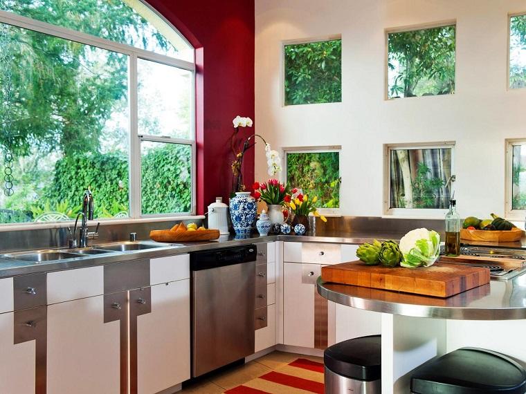 comment concevoir une cuisine fenetres decoration fleurs idees