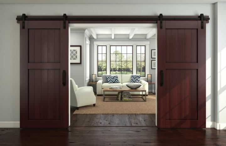 portes coulissantes design style murs vecas marron