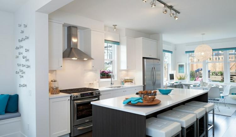 cuisines décorées zones de meubles en acier
