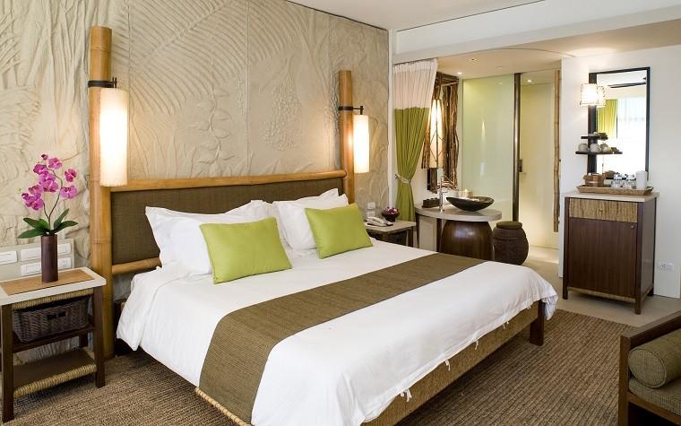 décoration de chambre à coucher fleurs lampes en bois