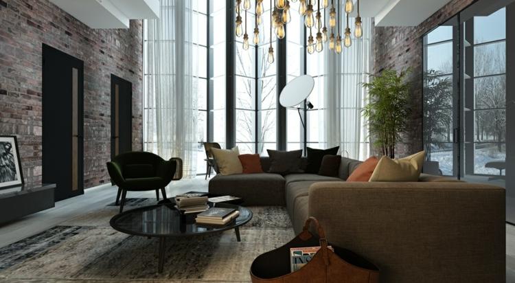éclairage design ampoules salons silhouettes