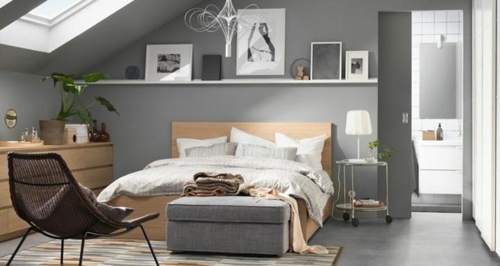 idées pour les chambres modernes design murs gris