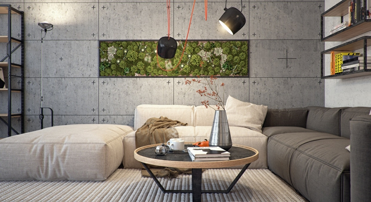 mur végétal intérieur d'origine