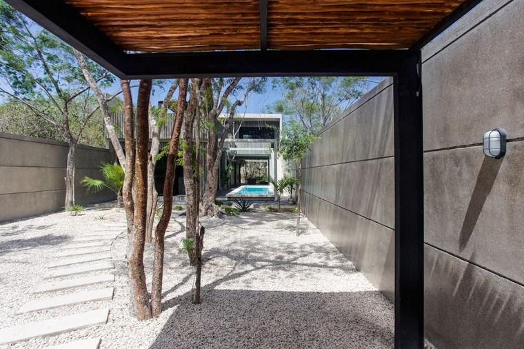 conception mexique entrée pierres sèches idées de jardin