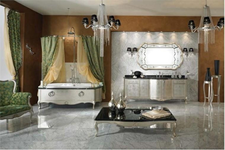 miroir de centre de table basse de salle de bains