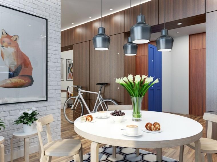 Petits appartements table de cuisine chaises design en bois