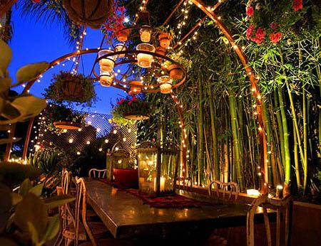 décoration-de-jardin-éclairage-romantique