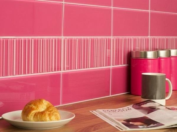 Cuisine rose détail de conception de cuisine rose