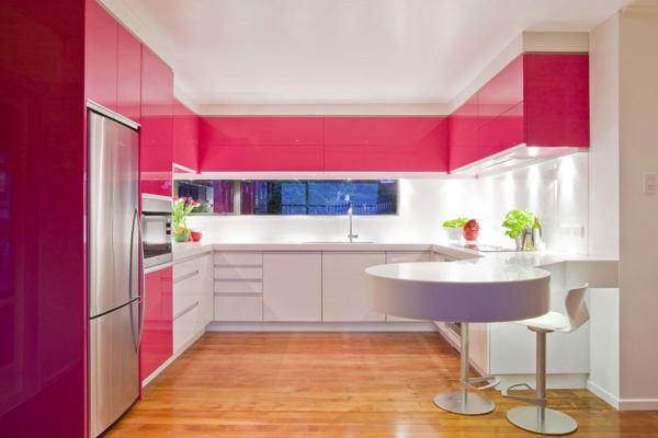 Cuisines roses Parquet design pour cuisines roses