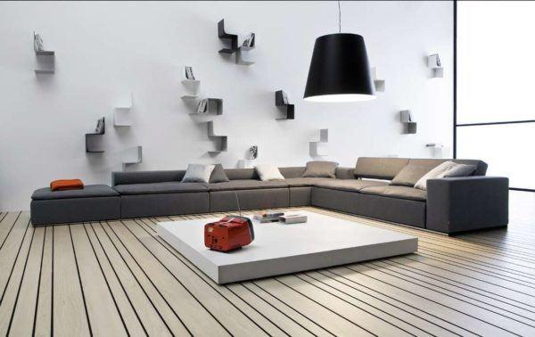 Chambres de charme salon avec canapé bas