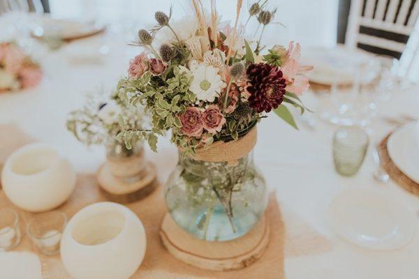 Centre de table mariage Centre de table mariage fleurs XXL