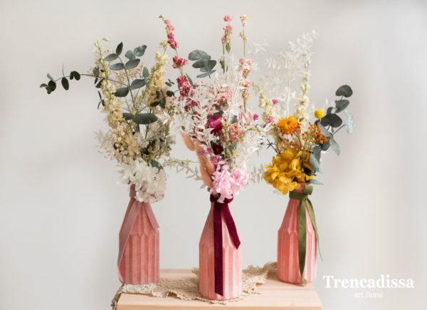 Centre de table pour centre de mariage vases fleurs séchées