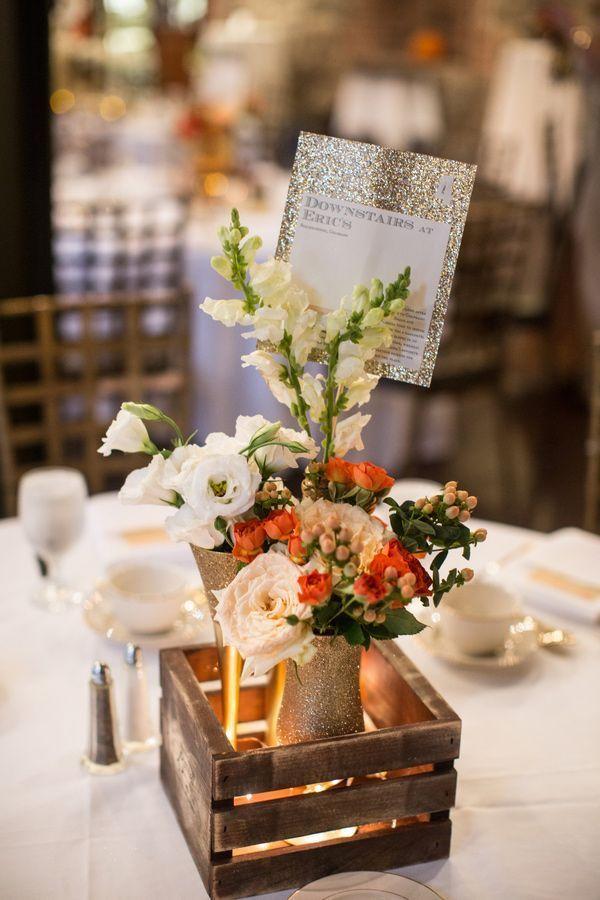 Centre de table en bois pour centre de table de mariage