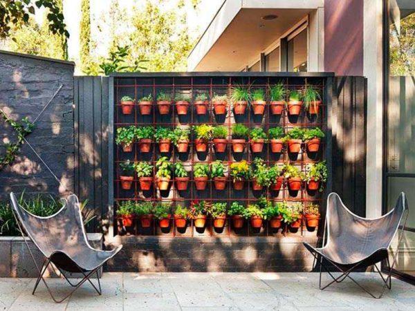 Jardins et terrasses en bois extérieur pots de balcon
