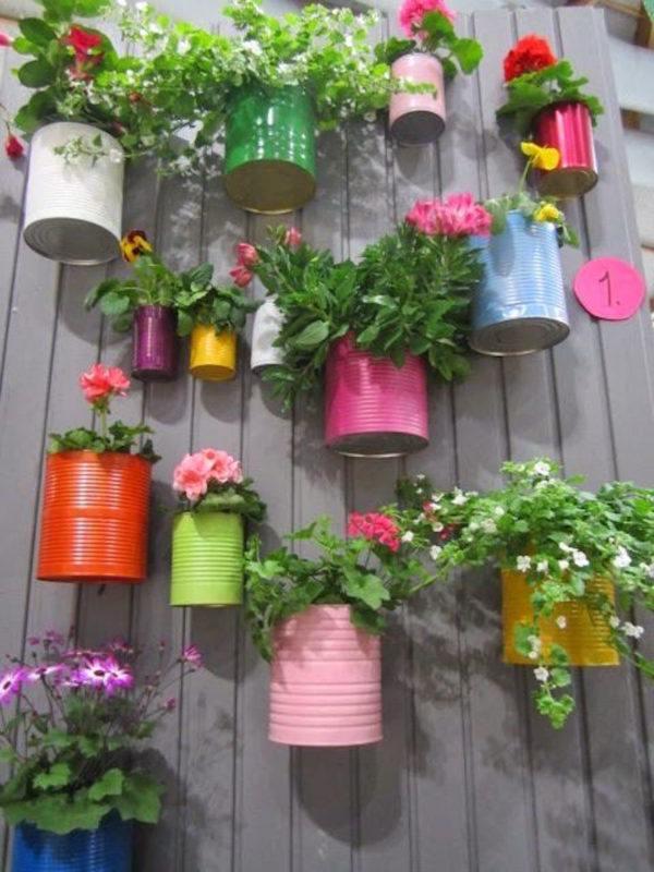 Jardins et terrasses bois extérieurs pots de fleurs pots