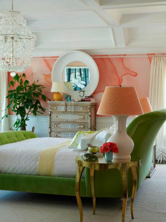 Papier peint coloré aquarelle chambre