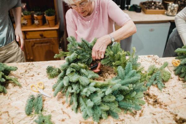 Les meilleures idées d'artisanat pour les seniors Couronne de Noël