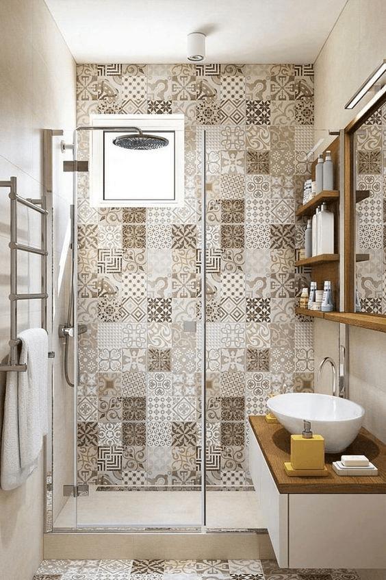15 petites salles de bain avec douche carrelage vintage 2021 2022