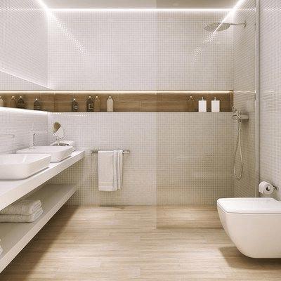 15 petites salles de bain avec douche 2021 2022 sol stratifié