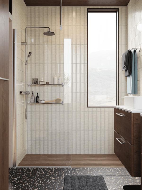 15 petites salles de bain avec douche 2021 2022 Salle de bain en bois IKEA