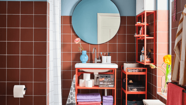 15 petites salles de bain avec douche 2021 2022 Couleur des meubles de salle de bain IKEA