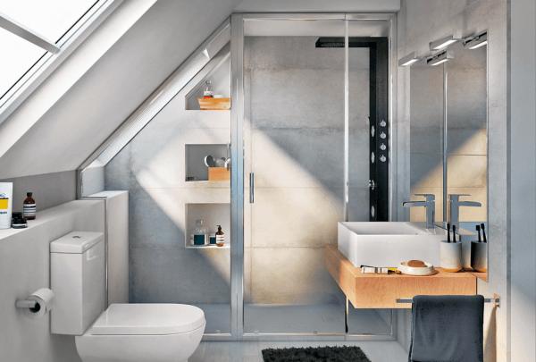 15 petites salles de bain avec douche 2021 2022 LEROY MERLIN salle de bain style bois